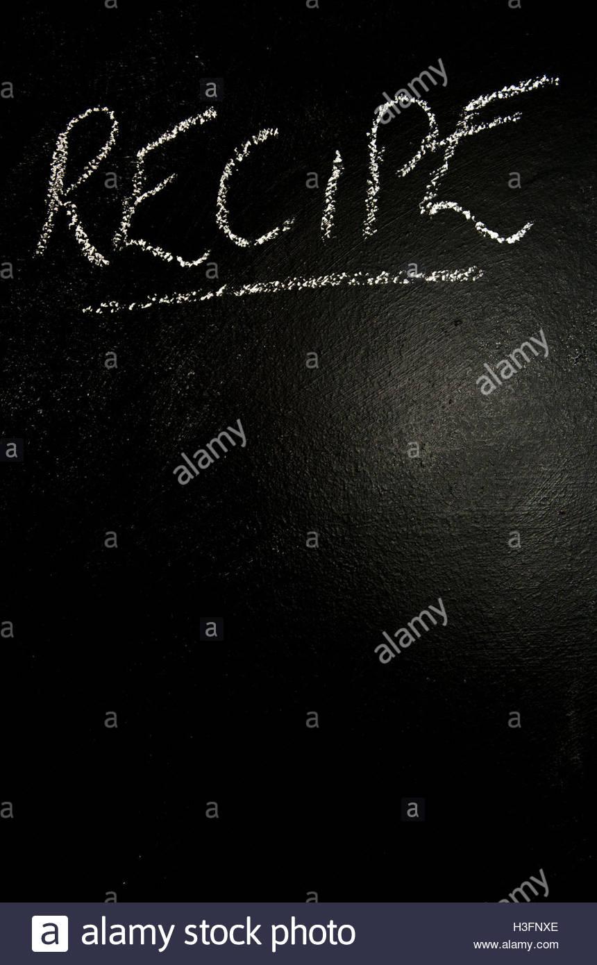 Fiche écrit sur un blackboard with copy space Photo Stock