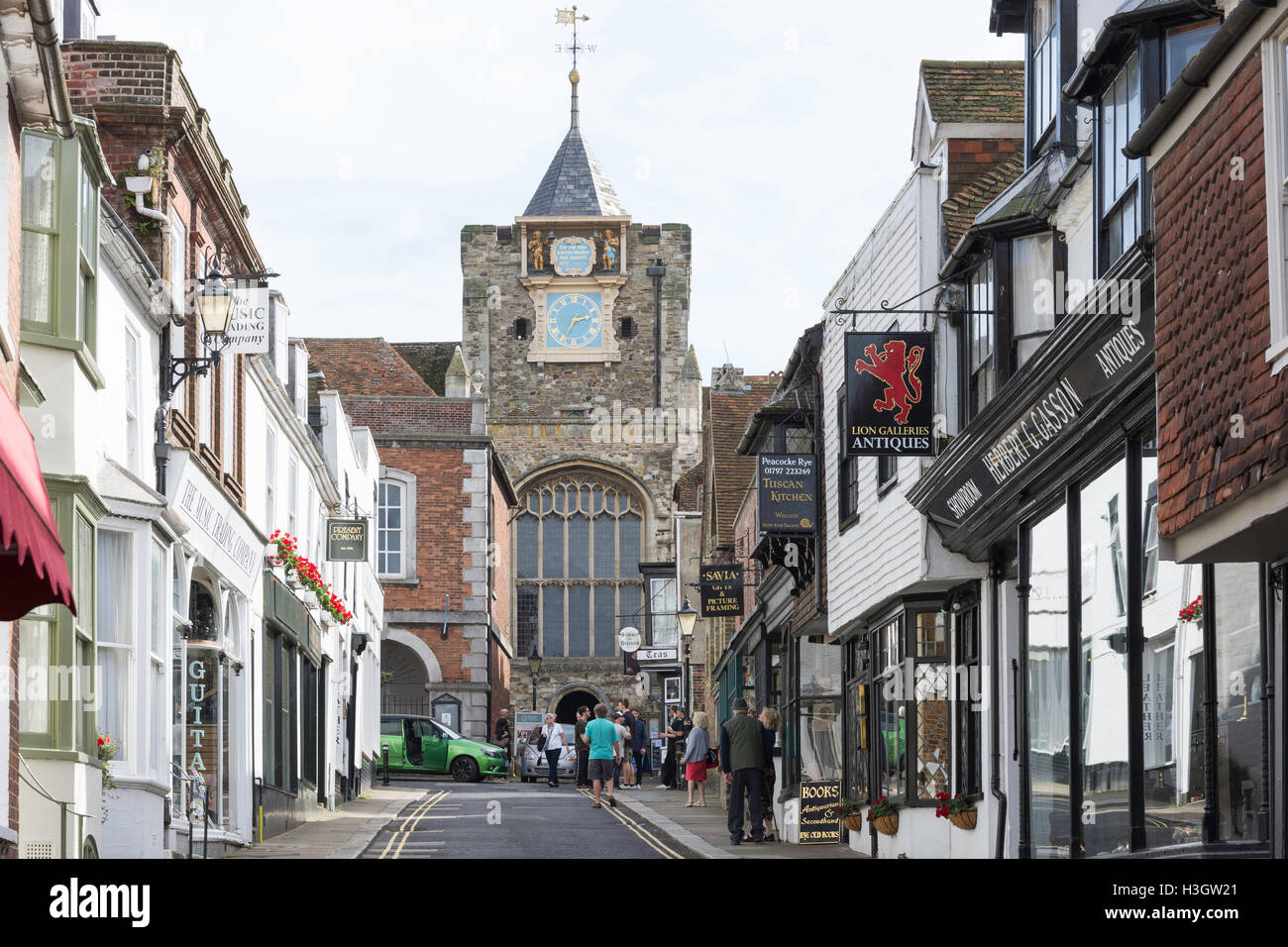 L'église St Mary, Lion Street, Rye, East Sussex, Angleterre, Royaume-Uni Photo Stock