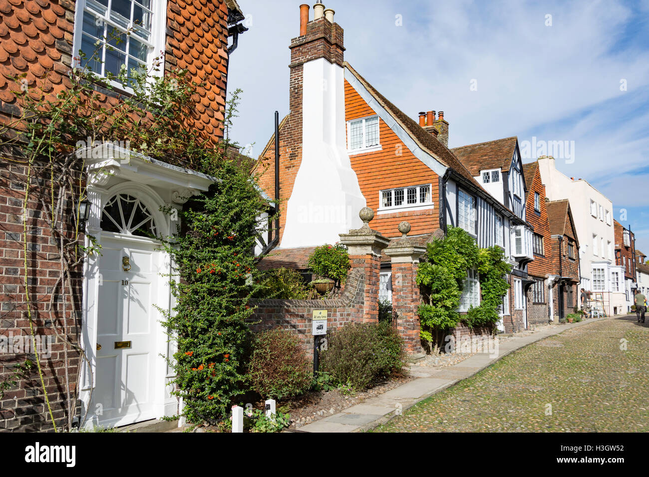 Watchbell Street, Rye, East Sussex, Angleterre, Royaume-Uni Photo Stock