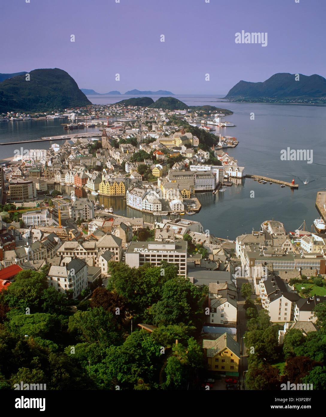 Aalesund, More og Romsdal (Norvège) Photo Stock