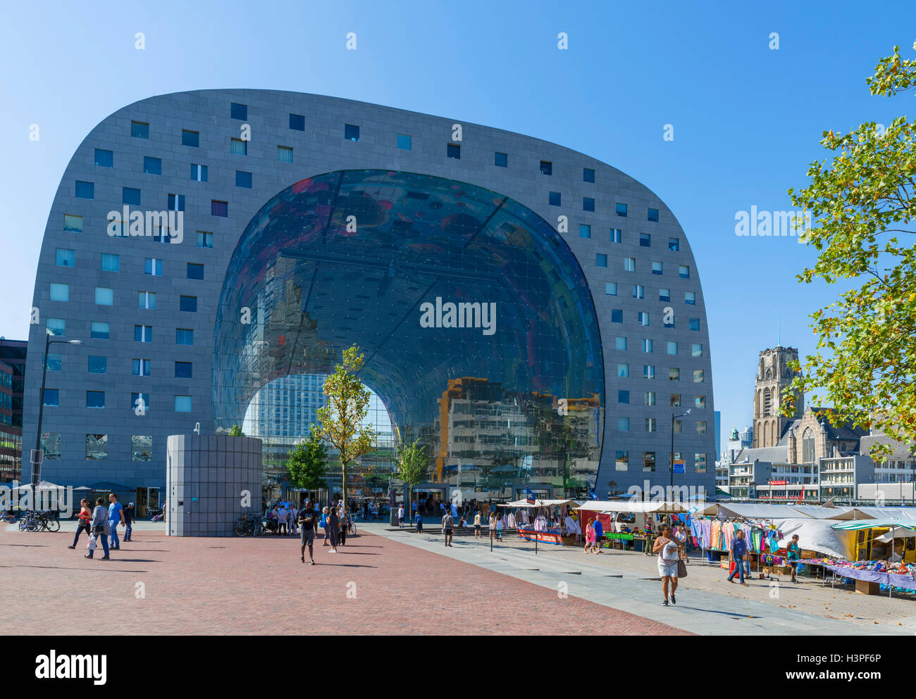L'Markthal (Halle), Rotterdam, Pays-Bas Photo Stock