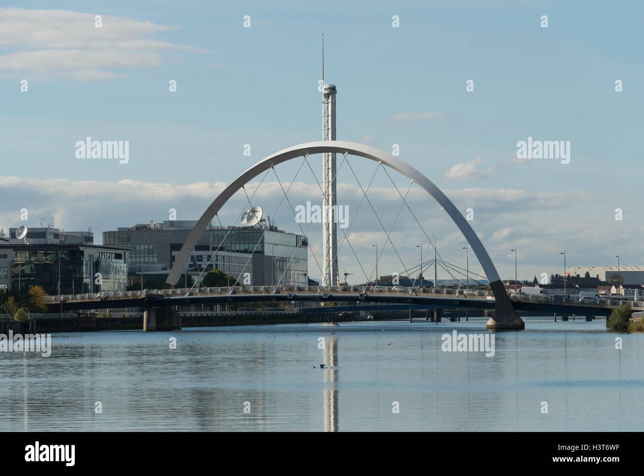 Clyde à l'Ouest à Clyde Arc,Glasgow, Écosse, Royaume-Uni, Banque D'Images