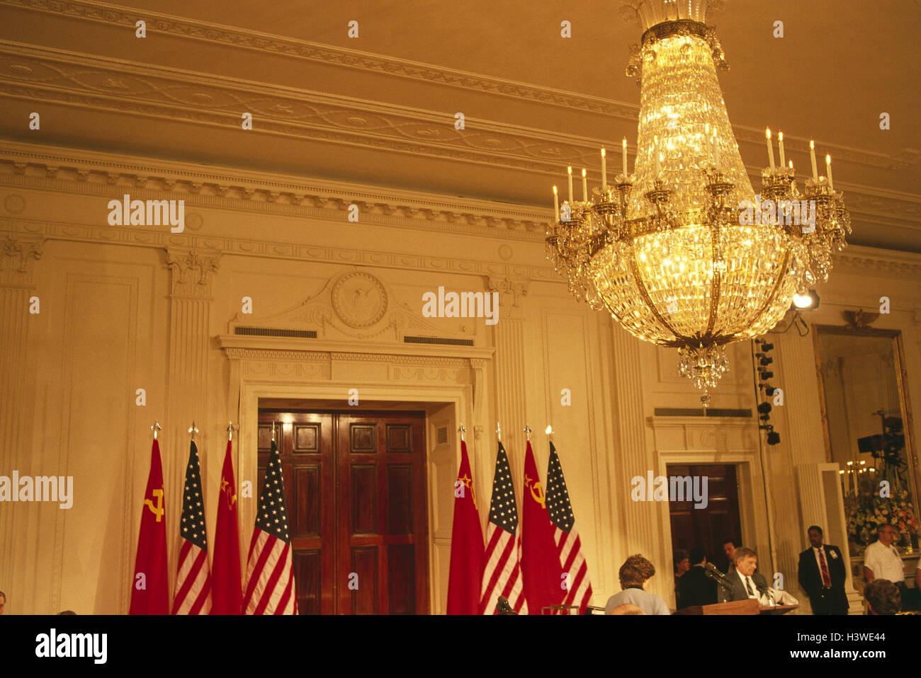 Les Usa Washington Dc Maison Blanche Hall D Entree De L Etude L