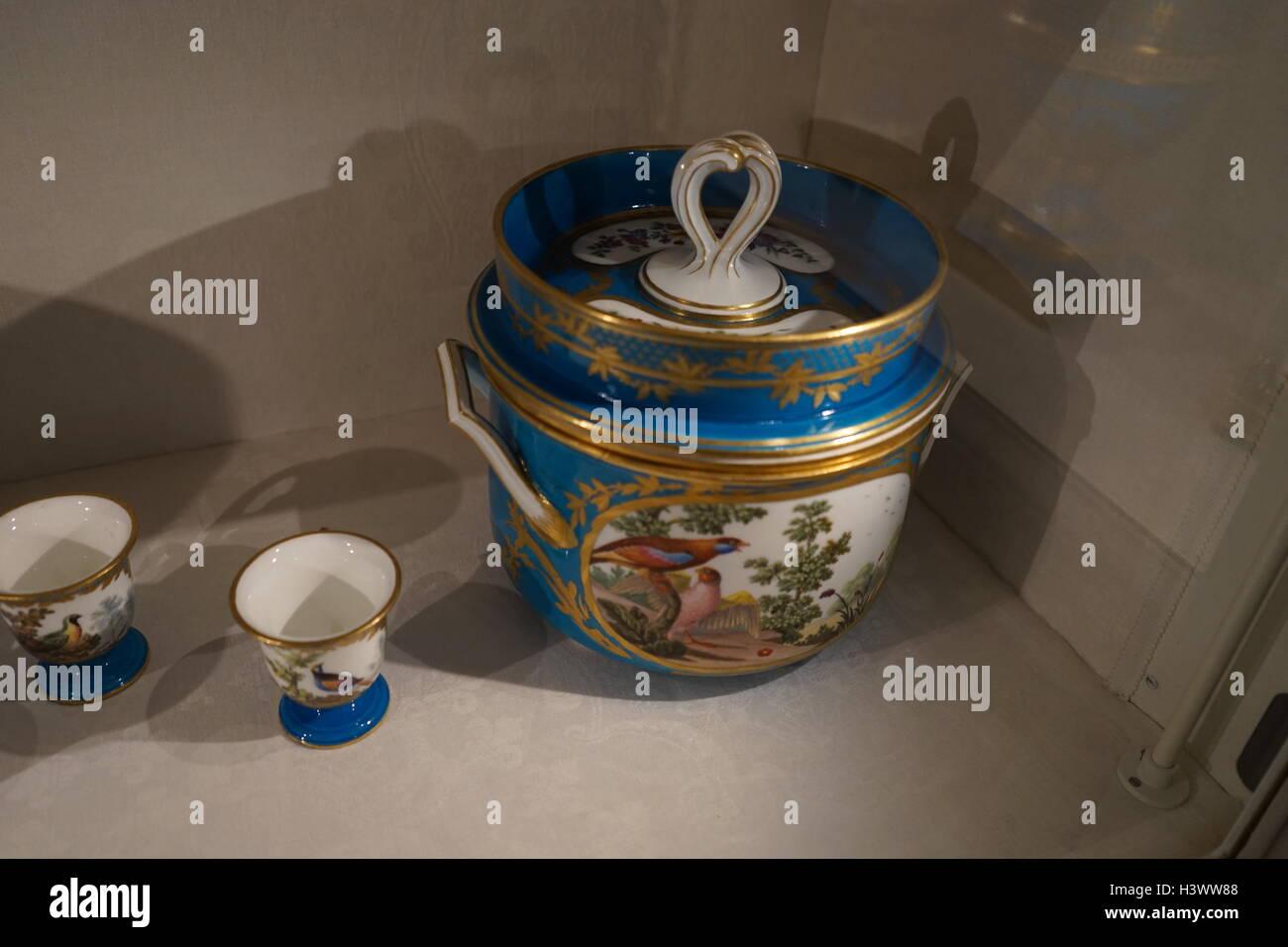 Objet à partir d'un service de Dessert le service 'Razumovsky', fait à partir de pâte Photo Stock