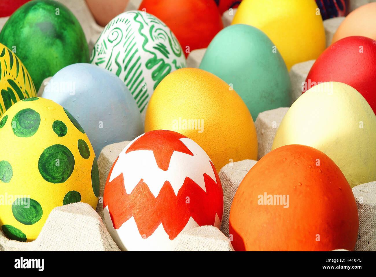 Paques Boite A œufs œufs De Paques De Couleurs Vives Les