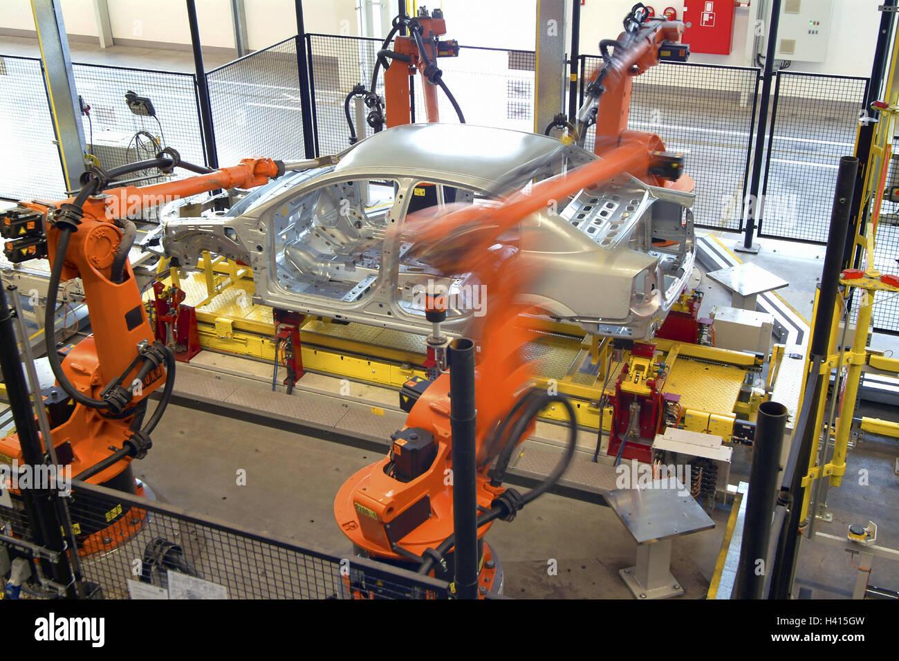 Allemagne Hesse Tronc Accueil Adam Opel Ag Hall De Production