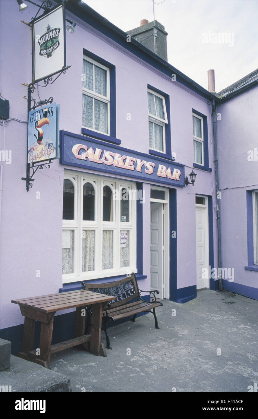 la péninsule de beara, l'irlande, le môle, lane, pub 'causkey's bar