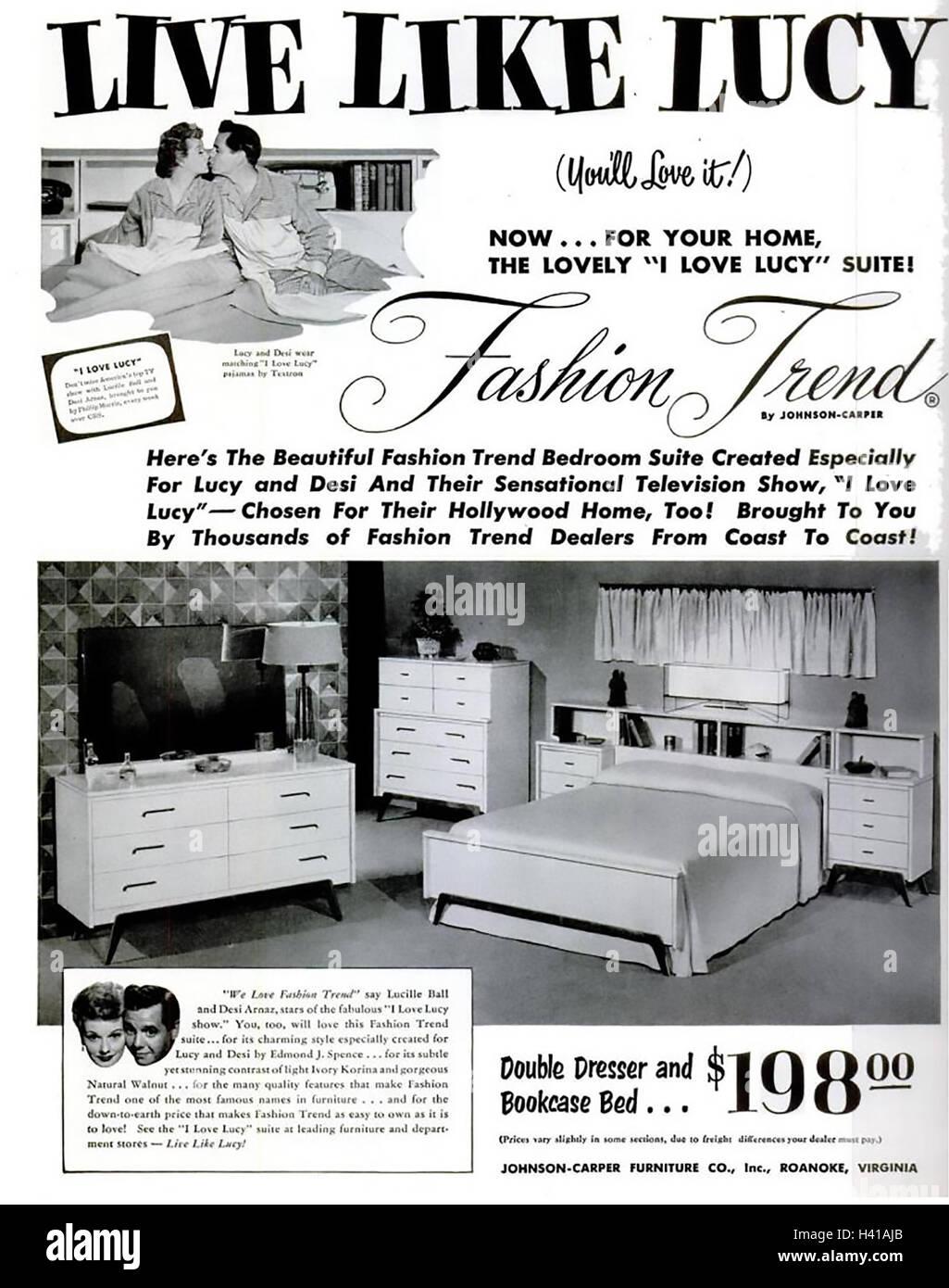 Vivre Comme Lucy 1953 Annonce Pour Meubles De Chambre A Coucher En