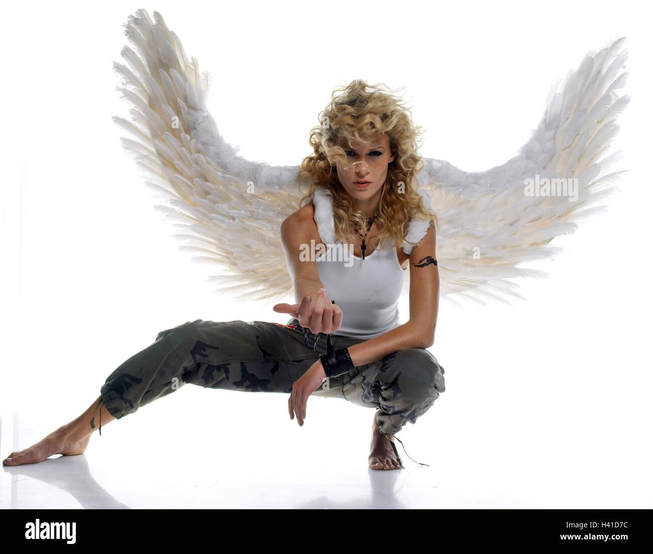 Attirer De Femme Jeune Blond A L Aile De L Ange L