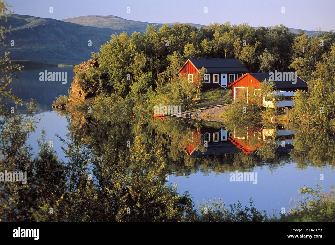 Maison Ossature Bois Suede la suède, laponie, fjord, rive, maisons en bois, d'un hangar