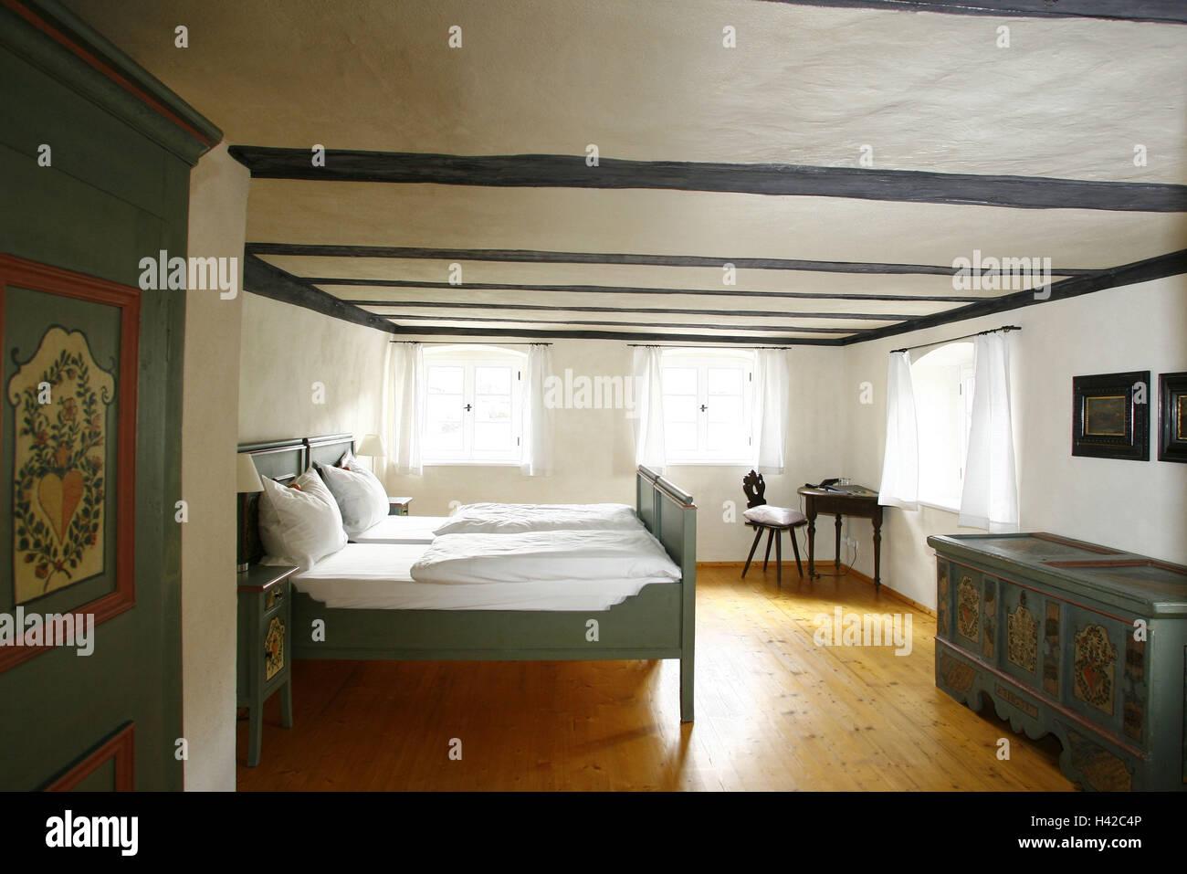 Chambre d\'hôtel dans le style maison de campagne Banque D ...