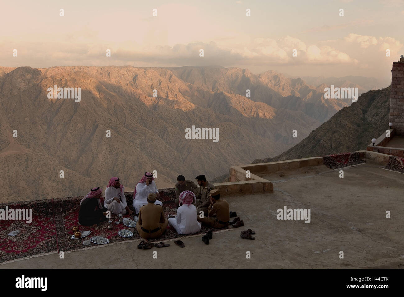 L'Arabie saoudite, Asir, Al Wadiyany, lookout, touristiques, Photo Stock