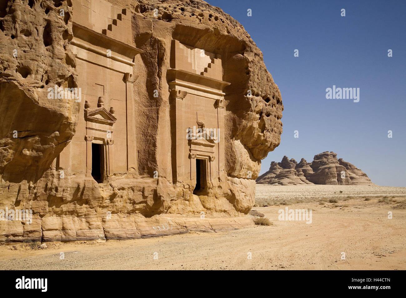 L'Arabie saoudite, Tabuk, Madain Saleh, Photo Stock