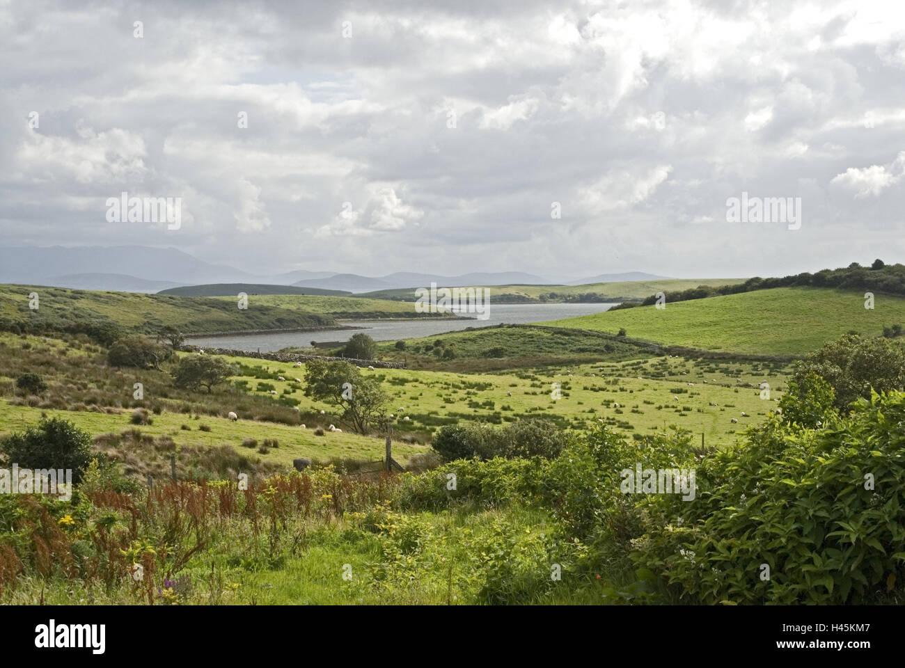 l 39 irlande l 39 islande d 39 achille littoral paysages pr s rivi re montagnes fond connacht. Black Bedroom Furniture Sets. Home Design Ideas