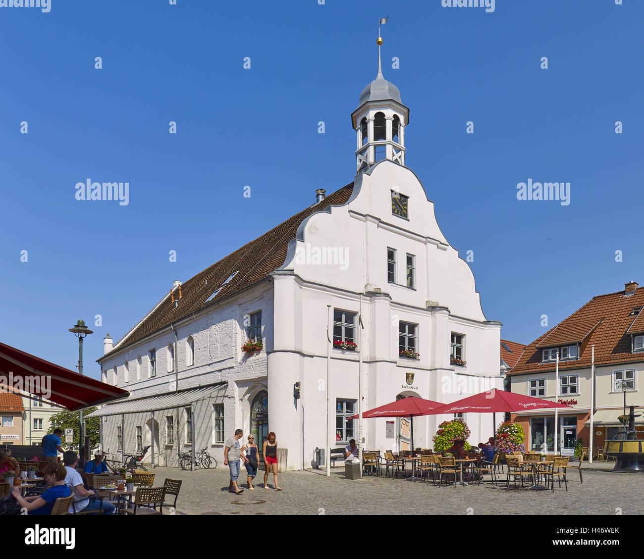 Ancien hôtel de ville de Wolgast, Mecklembourg Poméranie occidentale, Allemagne Banque D'Images