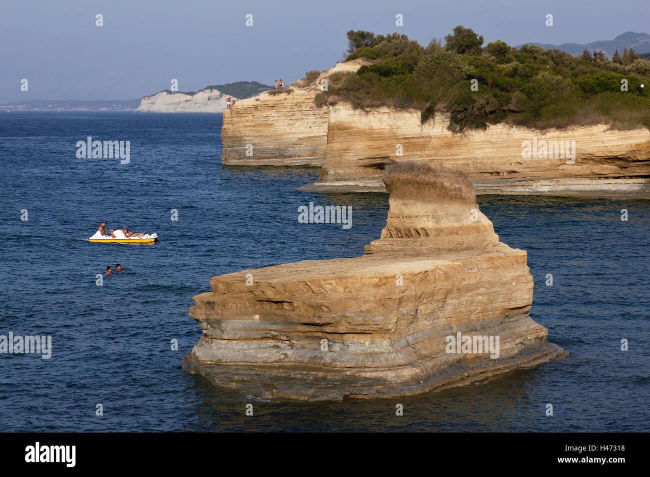 L'île de Corfou, Grèce, la bile, la côte nord-ouest de Corfou, Le Sud, l'Europe, l'Europe, Photo Stock