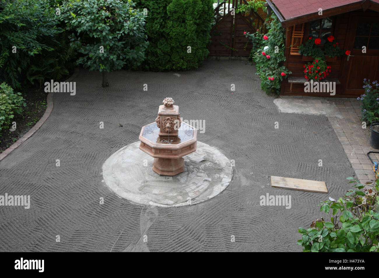 Investir d'un jardin, Photo Stock