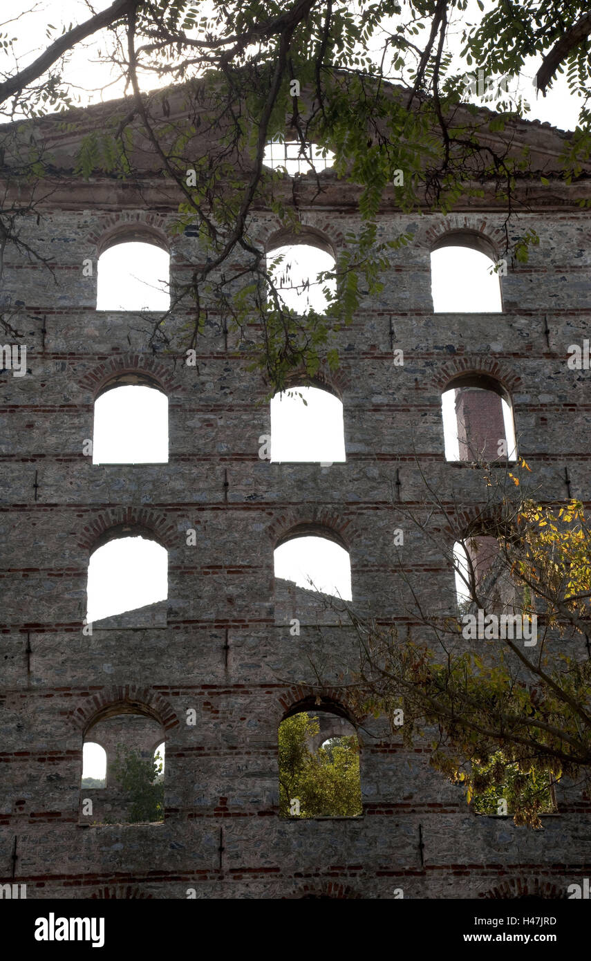 La Turquie, Istanbul, ruine, mur, fenêtre, l'architecture, Üsküdar, pcity district, d'un Photo Stock