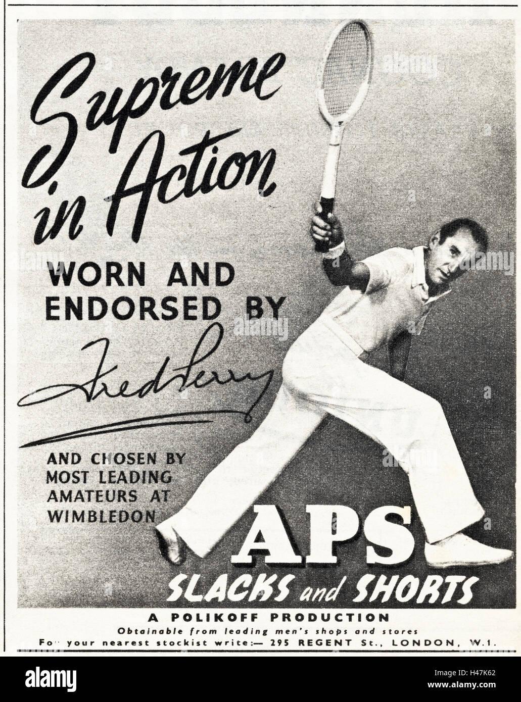 1950 annonce publicitaire de l'original old vintage ...