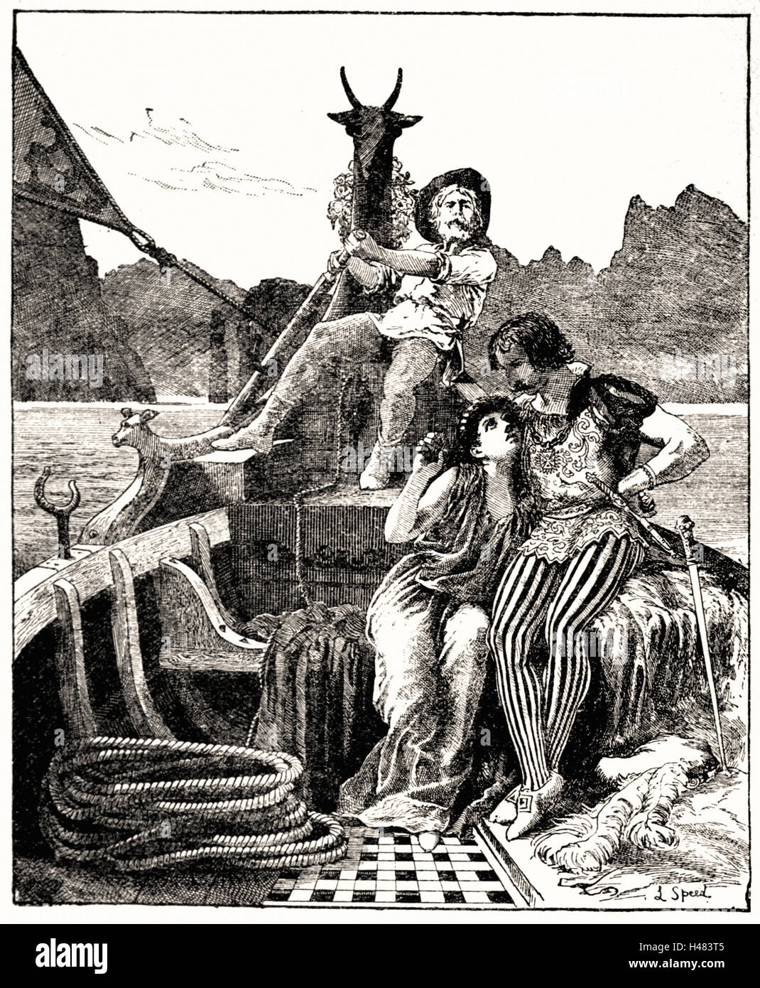 Page 20 illustration dans le livre de fée rouge (1890) Photo Stock
