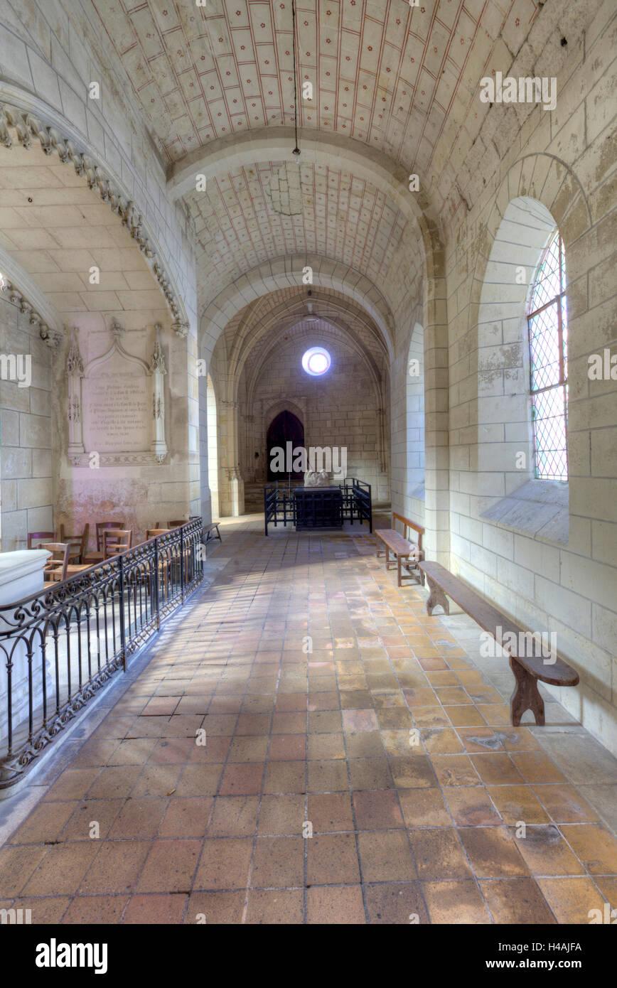 Saint-Ours, de l'église Saint-genest, Ville, Ville, Département Indre-et-Loire, Centre, France, Europe Photo Stock