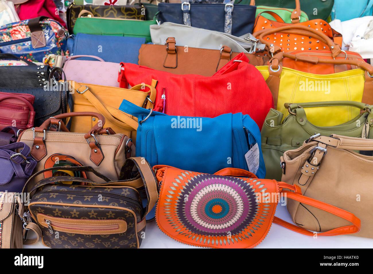 Les ventes de sacs à main en cuir, Alaior, Minorque, île des Baléares 2268b41a6d8