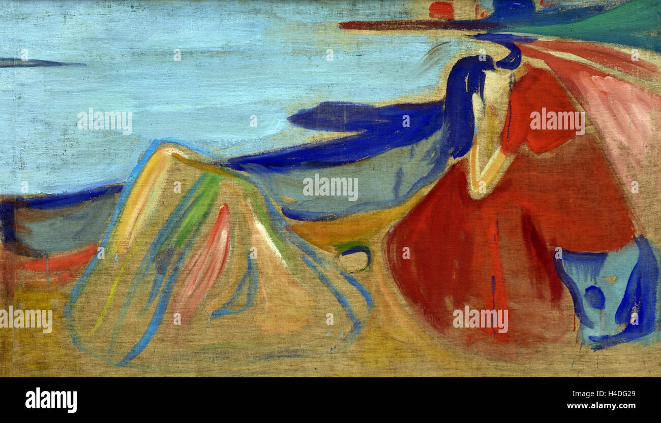 Mélancolie Edvard Munch 1906 Norway Norwegian1863 - 1944 Photo Stock