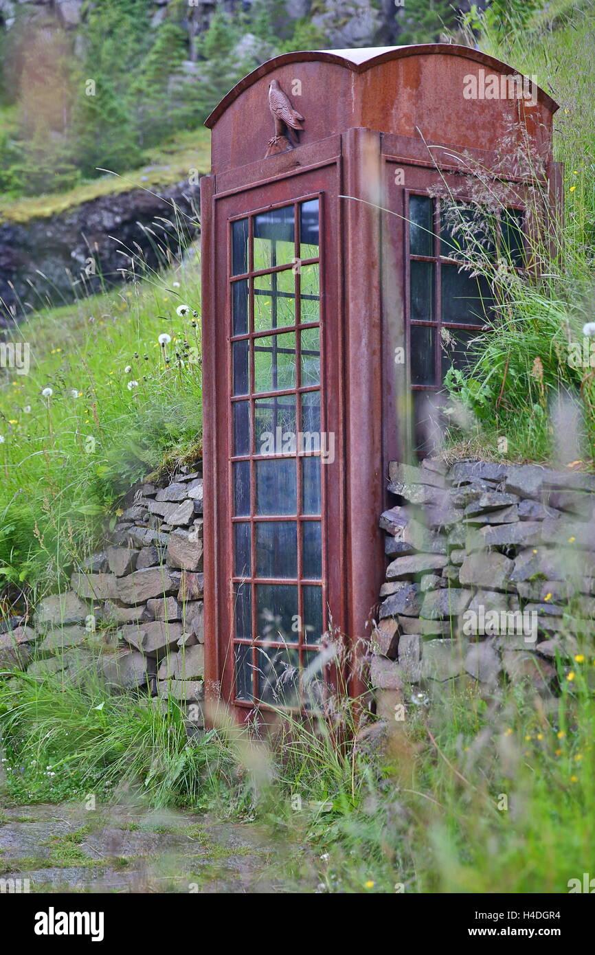 Phonebox herbeux Photo Stock