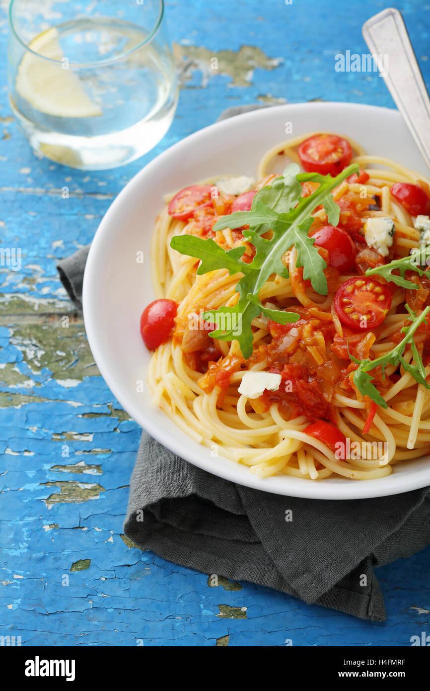 Spaghettis Banque D'Images