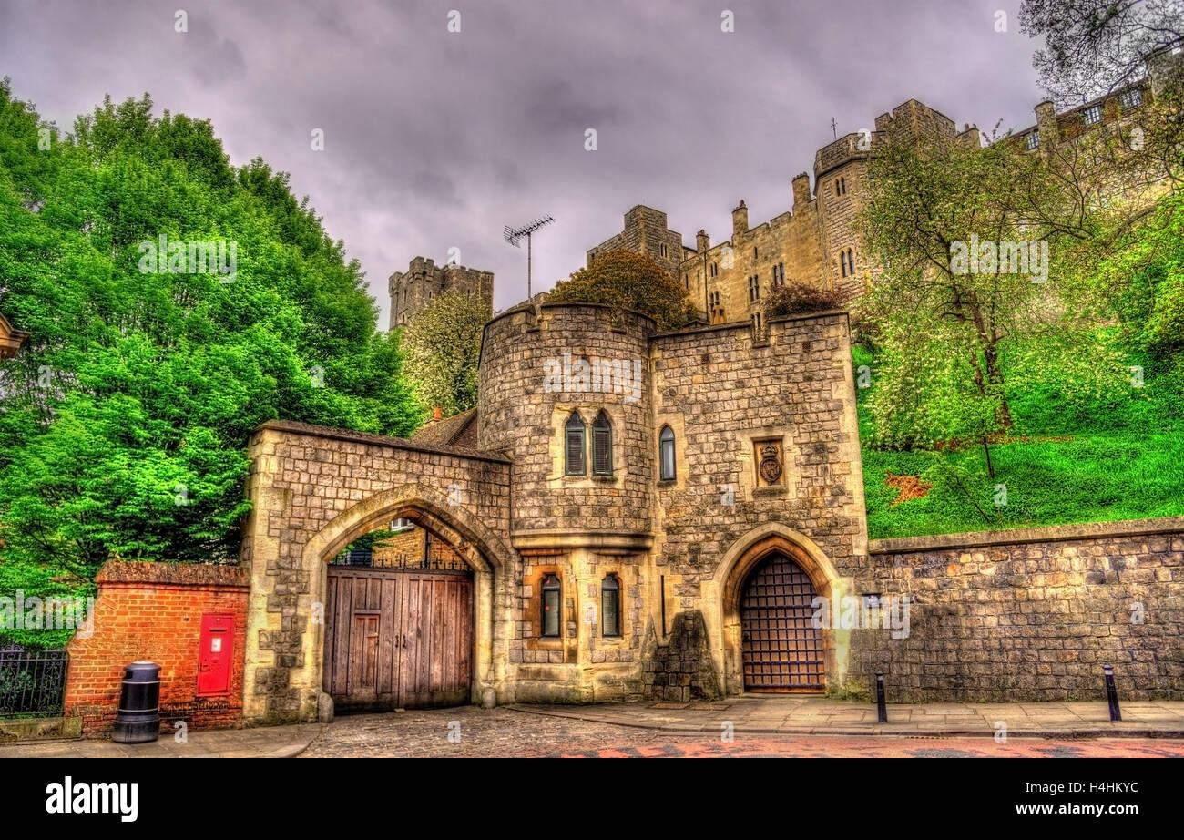 Porte du château de Windsor - Angleterre, Grande-Bretagne Photo Stock