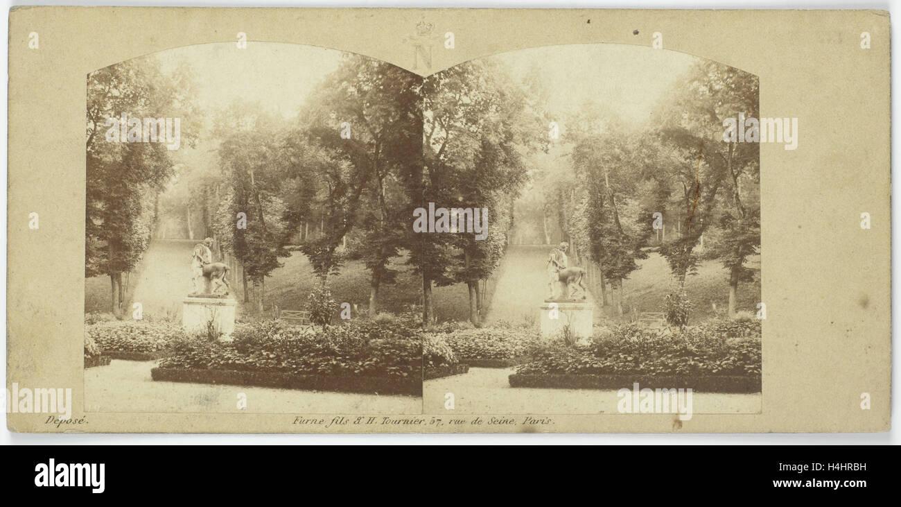 Jardins se réserve, Rond-point du Centaure, France, Charles Paul Furne, Henri Tournier, 1858 Photo Stock