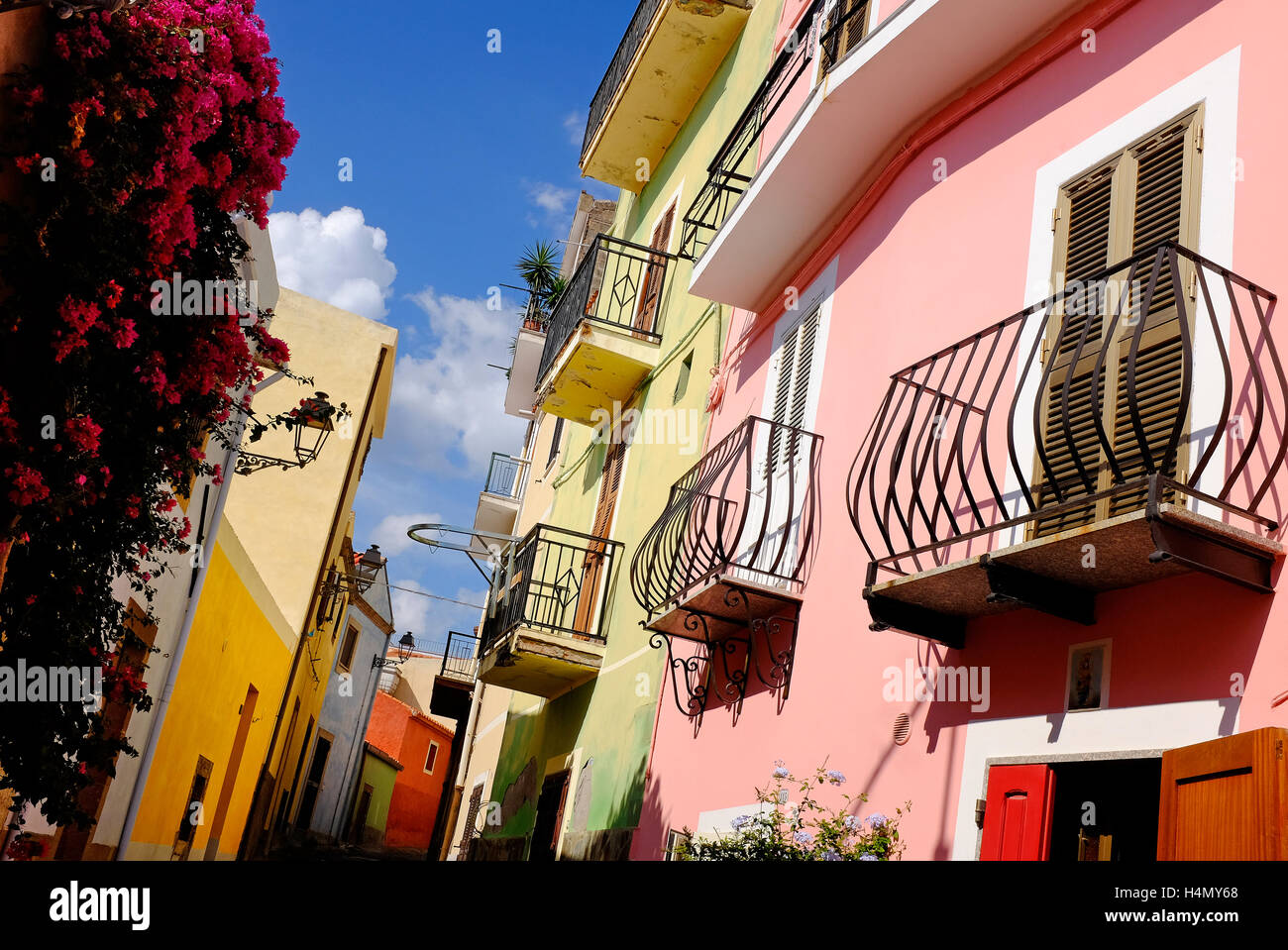 Bosa, Sardaigne, Italie Photo Stock