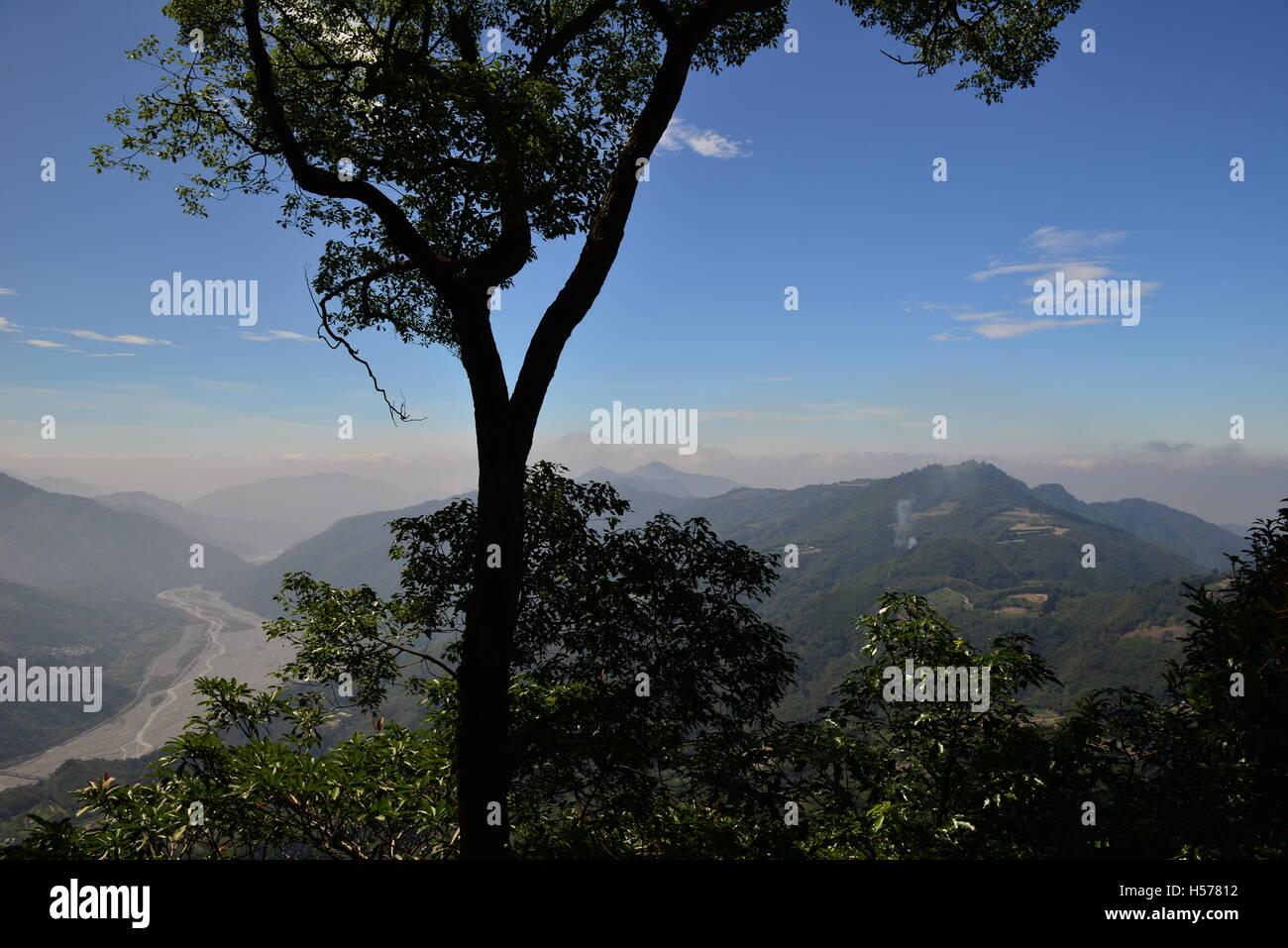 Un ciel clair; un ciel sans nuages, un ciel lumineux Photo Stock