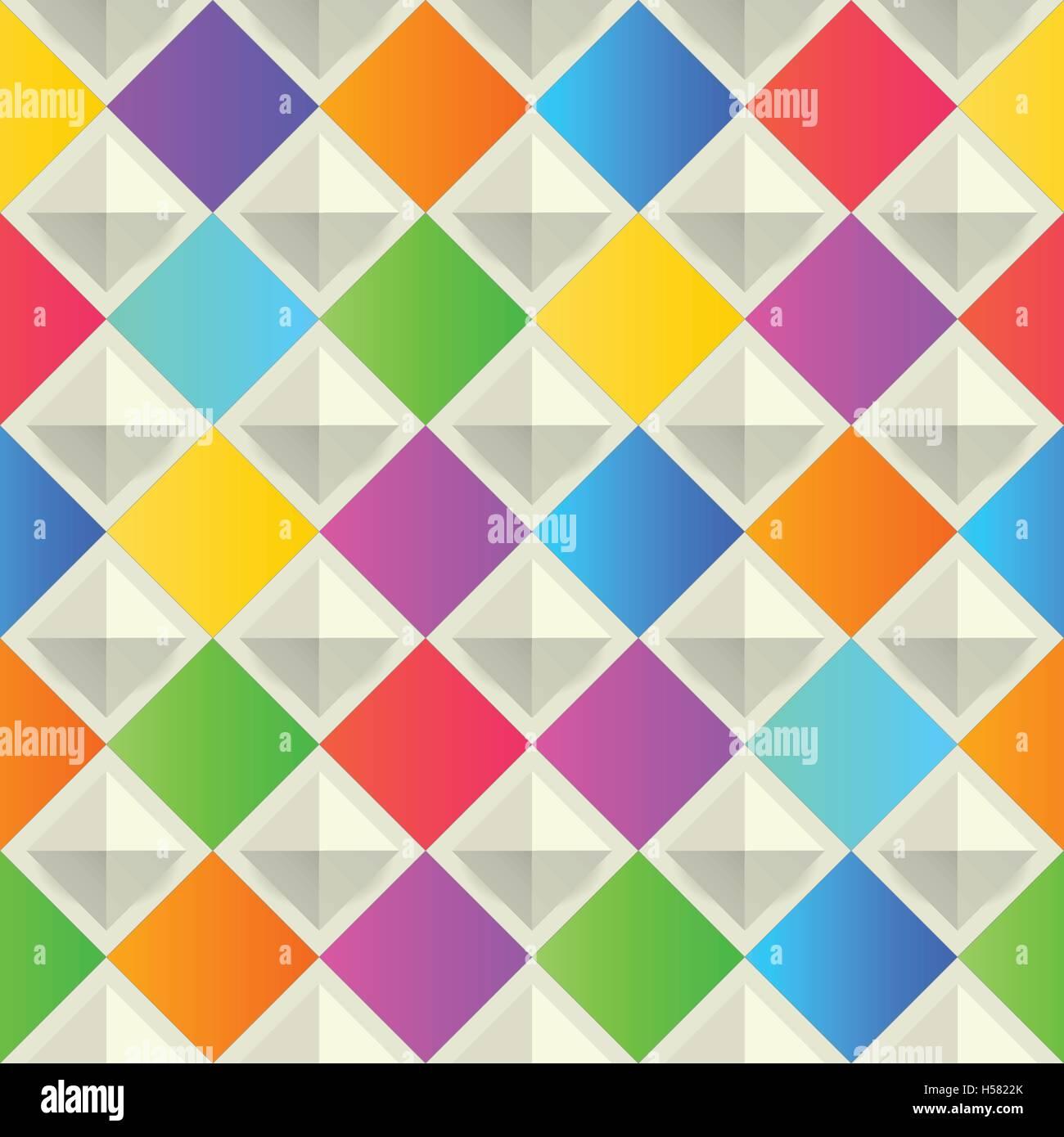 Résumé fond coloré, avec des formes rhombus. Vector, géométrique, de la mode Modèle. Papier peint design matériel Illustration de Vecteur