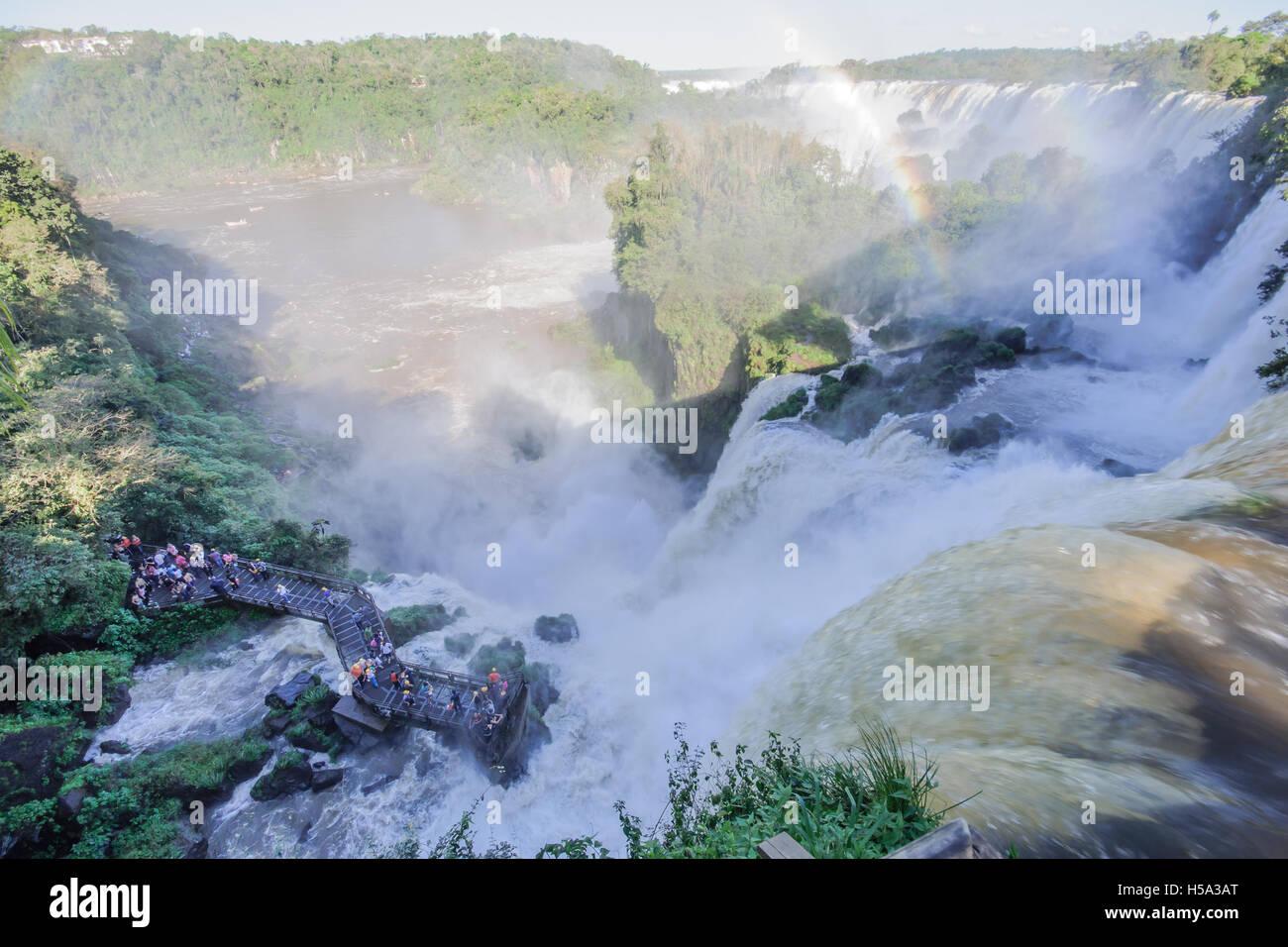 Parc National d'Iguaçu, à la frontière de l'Argentine et le Brésil. Côté argentin Banque D'Images
