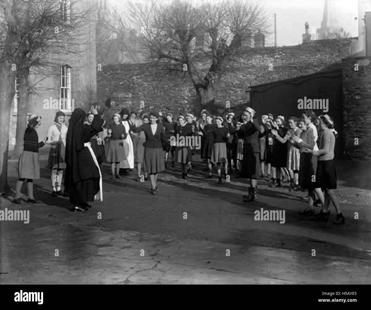 Le netball avec les soeurs de la Charité Photo Stock