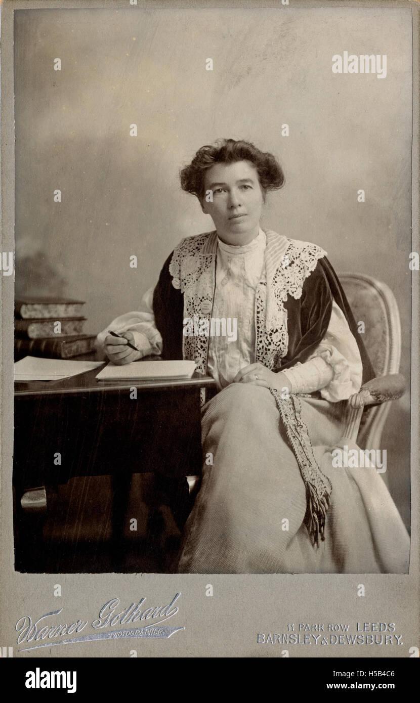 Emmeline Pethick Lawrence, c.1908. Banque D'Images