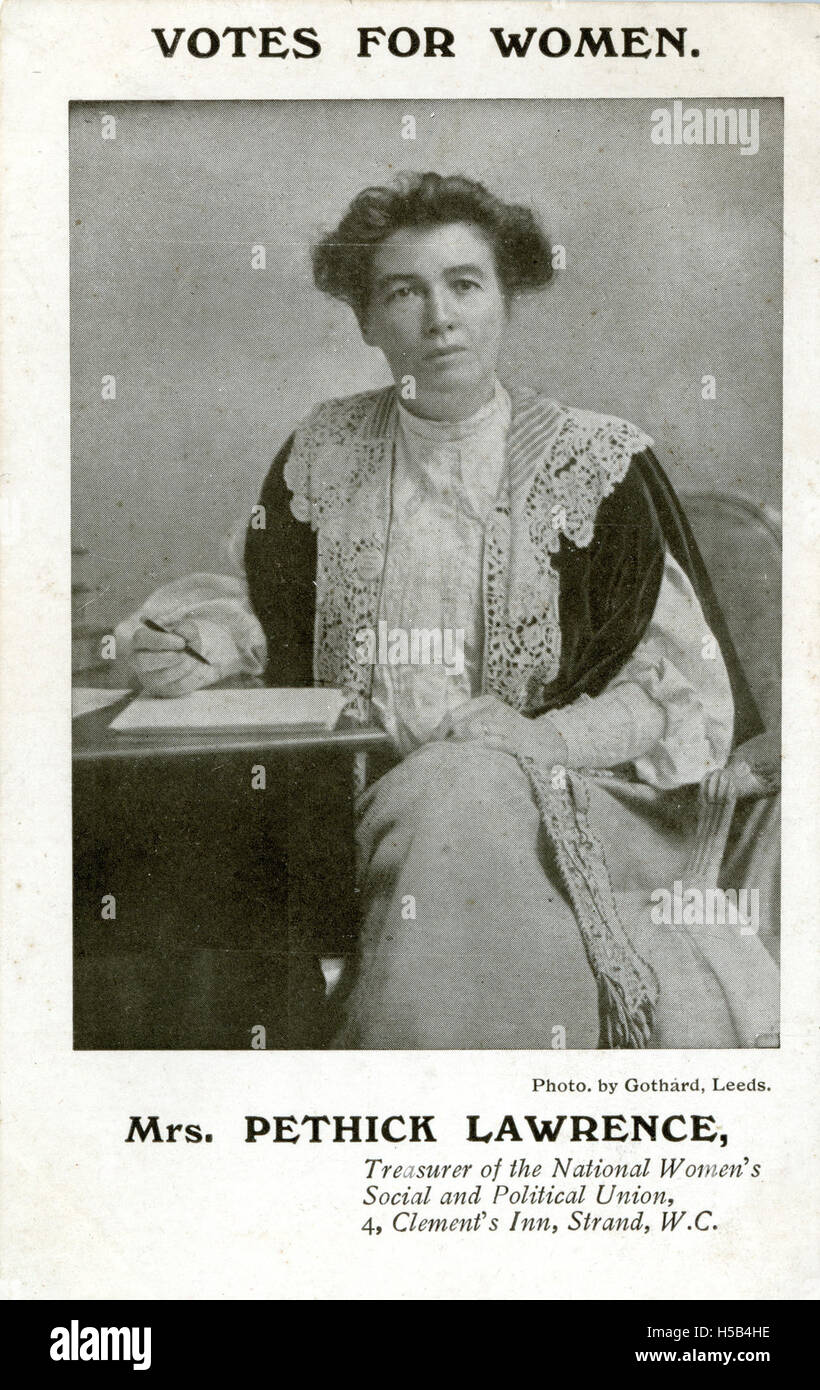 Emmeline Pethick Lawrence, 1908. Banque D'Images