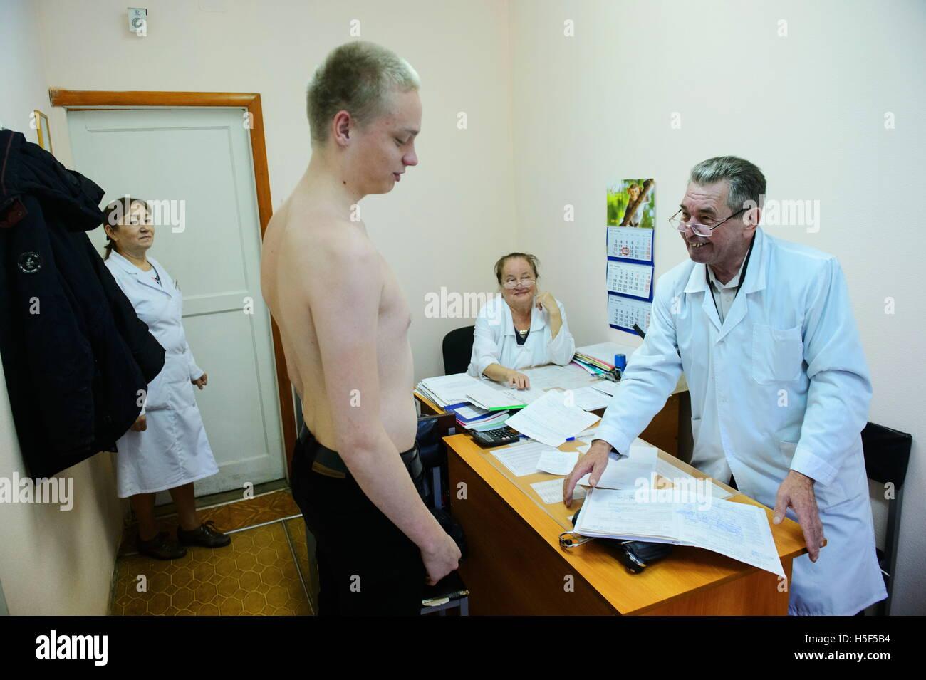 Yekaterinburg russie. 19 oct 2016. un conscrit vu lors dun