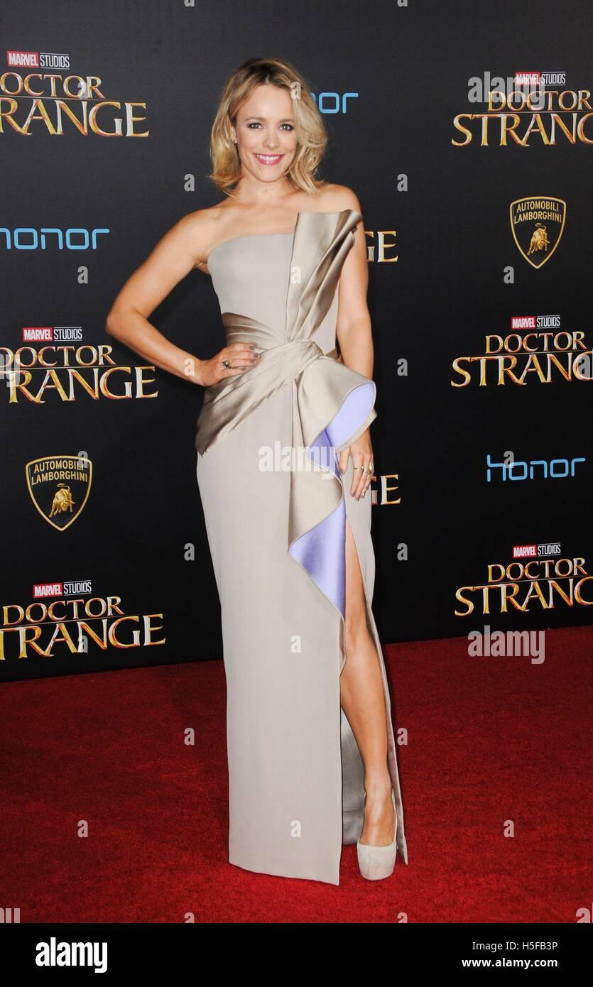 Los Angeles, CA, USA. 20 Oct, 2016. Rachel McAdams au niveau des arrivées pour Docteur Strange Premiere, El Photo Stock