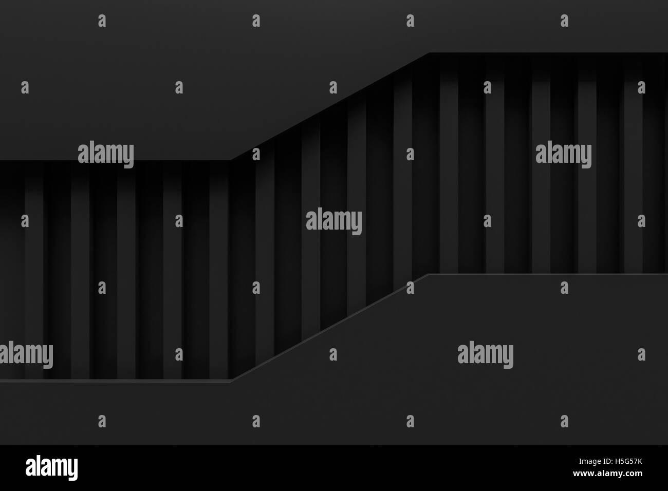 La couche noire matériau de papier mise en page rendu 3d'arrière-plan Photo Stock