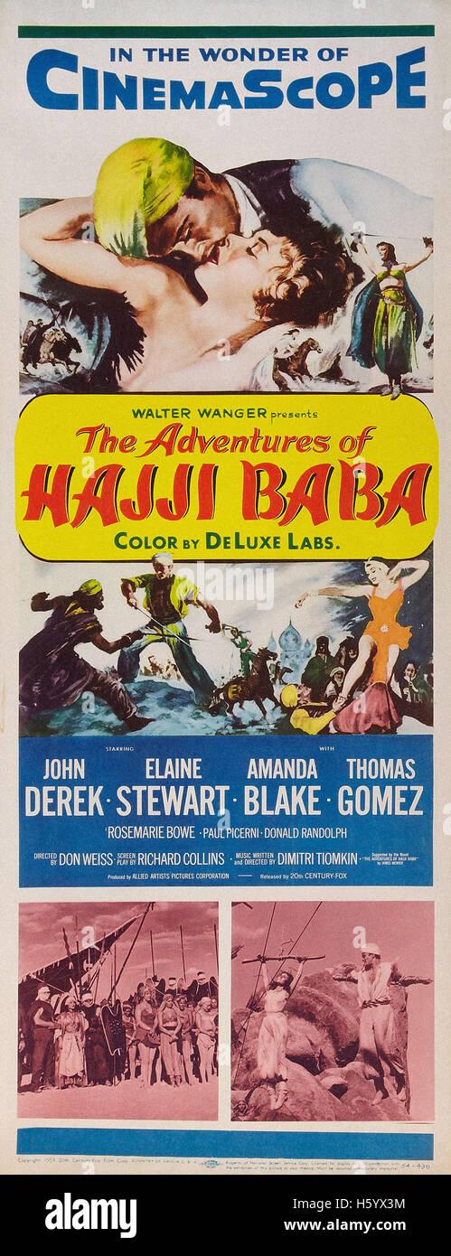 Les aventures de Hajji Baba - Movie Poster Photo Stock