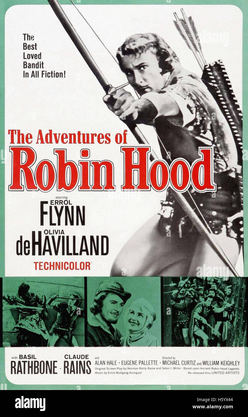 Les aventures de Robin des Bois - Film Poster Banque D'Images