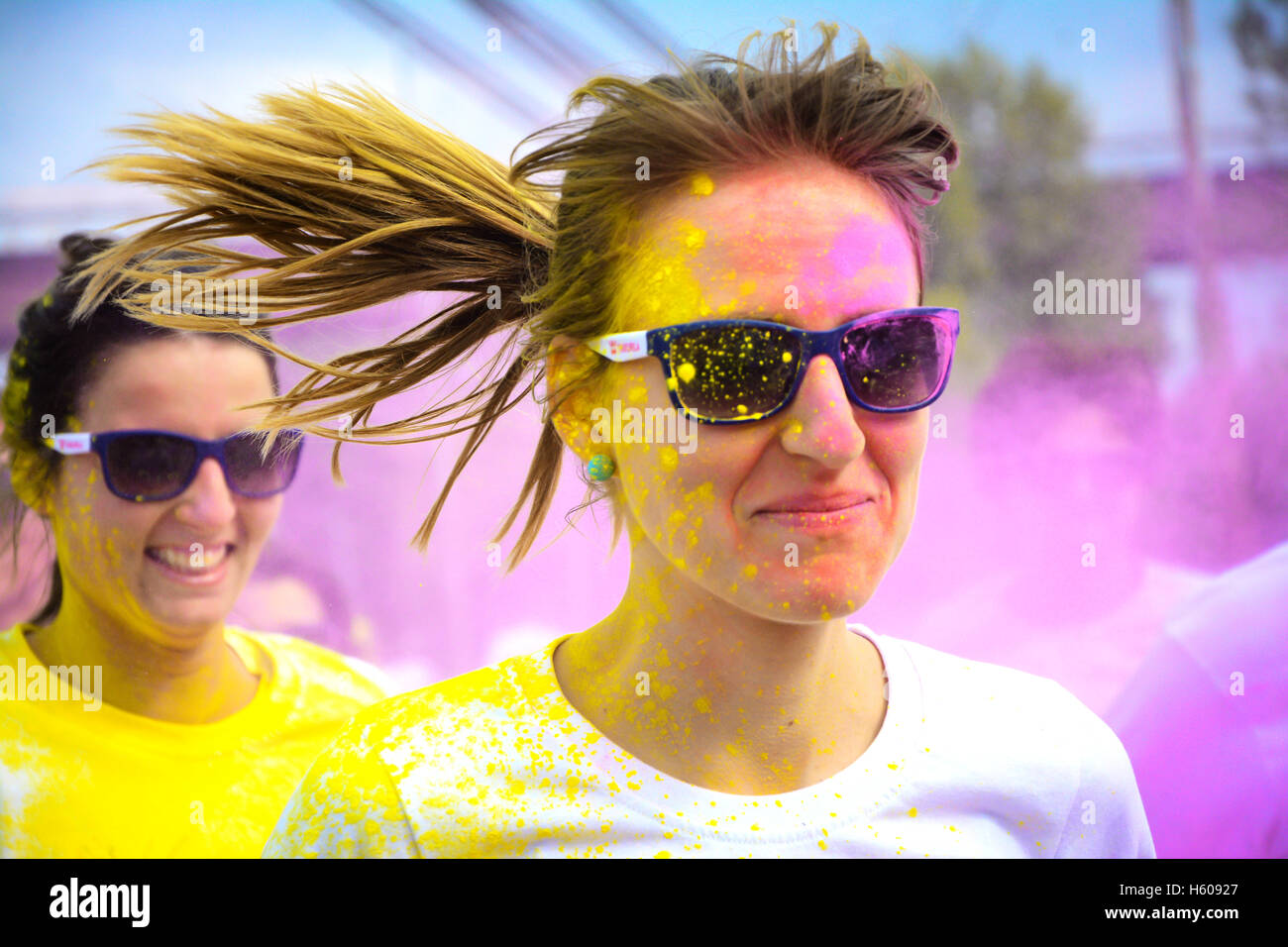 La course de couleur Photo Stock