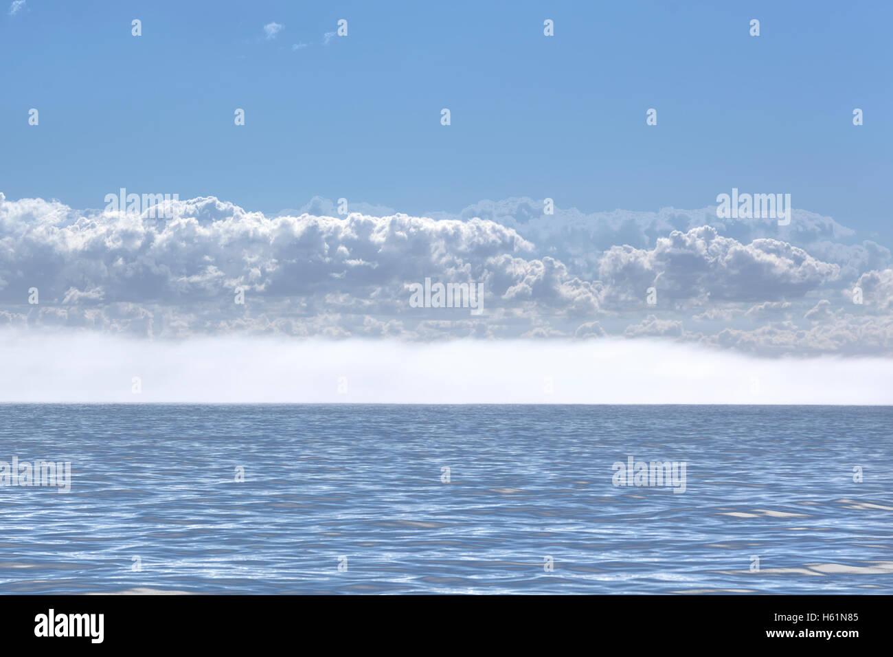 Brouillard sur l'Horizon Photo Stock