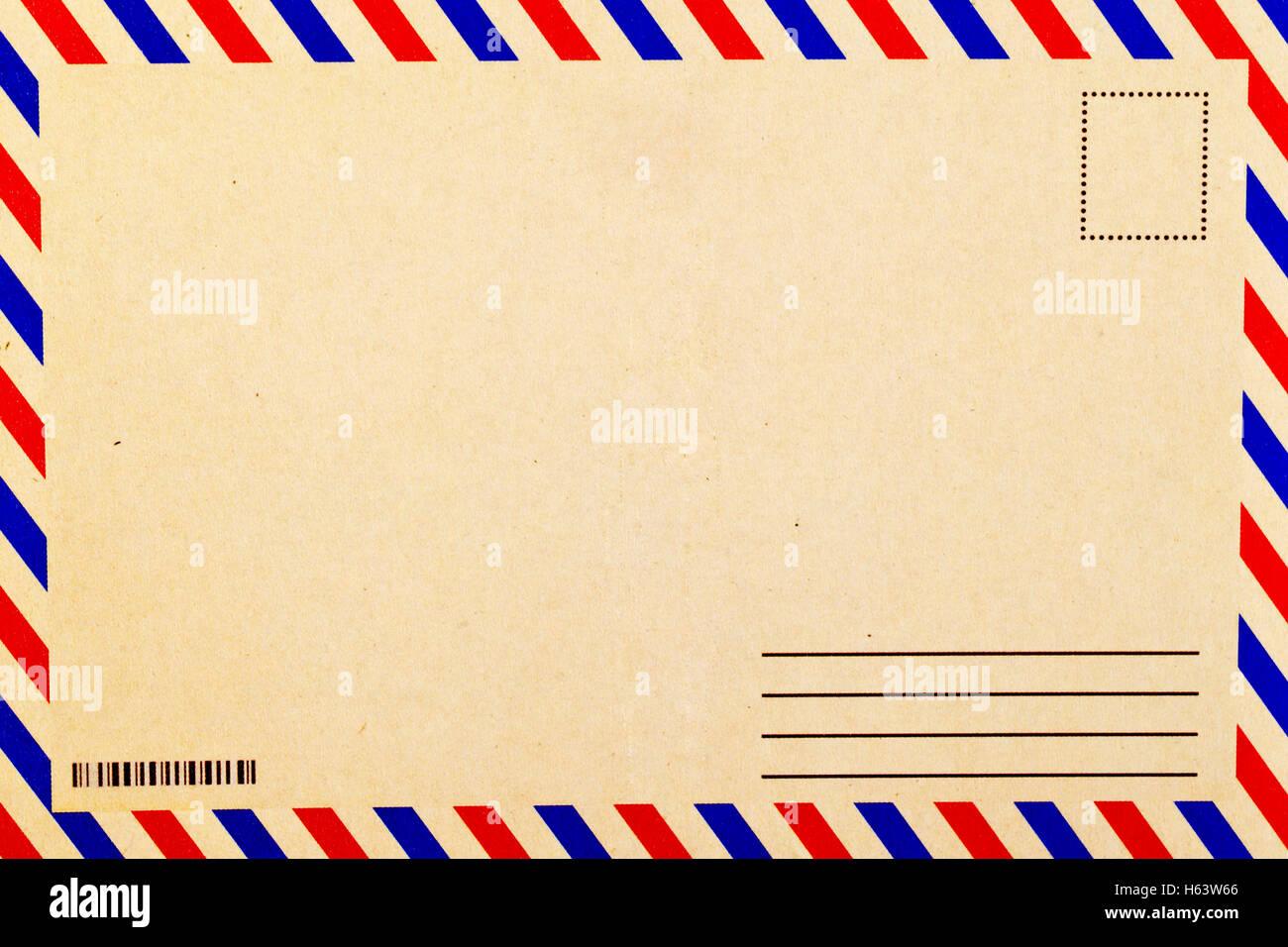 Un fond de carte postale vintage vierge Photo Stock - Alamy