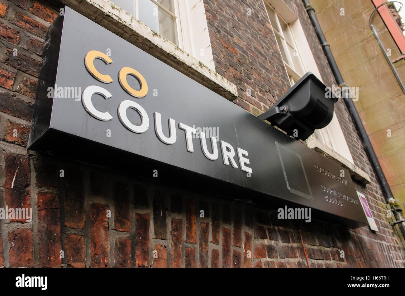 La Couture, Belfast, un chocolatier. Photo Stock