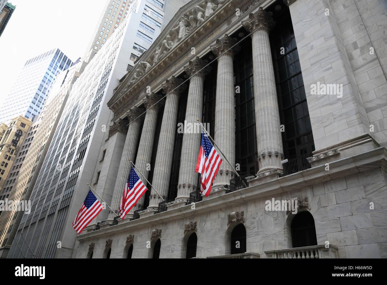 La Bourse de New York, Wall Street, Manhattan, New York, USA Photo Stock