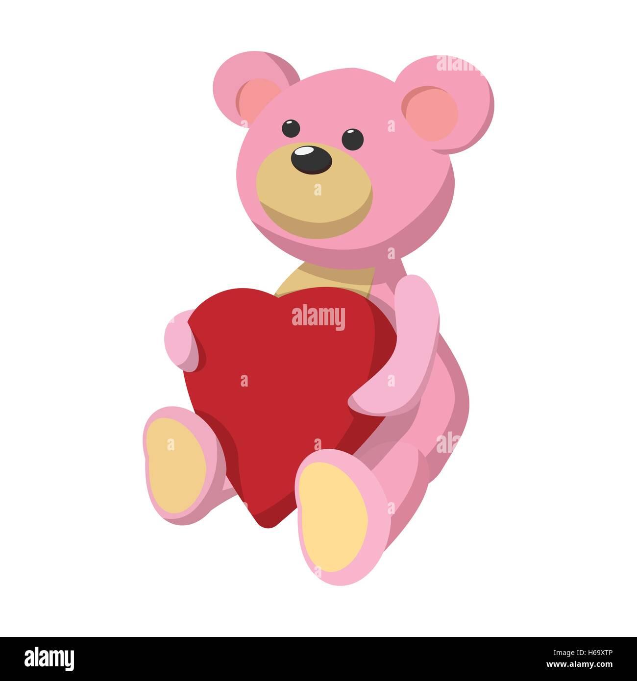 Pink Teddy Bear Heart Cartoon Photos Pink Teddy Bear Heart Cartoon
