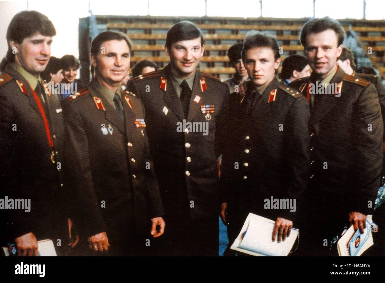 Les joueurs de hockey de l'armée rouge l'Armée rouge (2014) Photo Stock